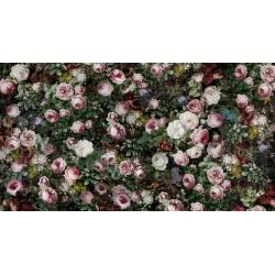 Papier peint vintage tapisserie florale - Les pivoines, les roses et les jasmins