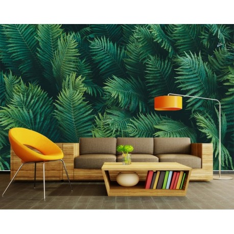 papier peint photo panoramique mur v g tal sticker mural xxl feuille de foug re papier peint. Black Bedroom Furniture Sets. Home Design Ideas