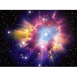 Décoration plafond - Nuage multicouleur et les étoiles dans l'univers