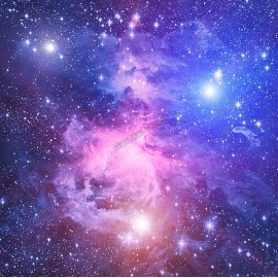 Décoration plafond paysage univers - Les étoiles dans le ciel bleu violet