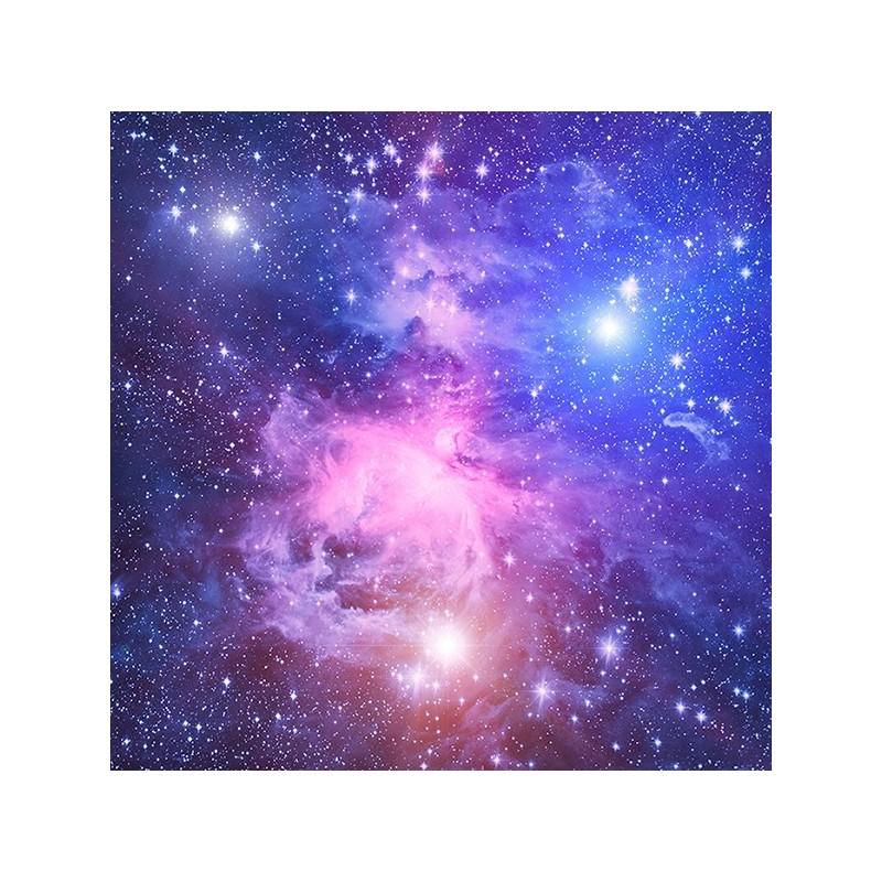 Plafond tendu imprim personnalis paysage univers toile dans le ciel bleu violet papier - Etoiles phosphorescentes plafond ...