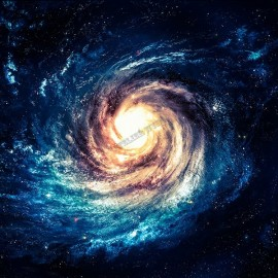 Décoration plafond paysage univers - Galaxie spirale