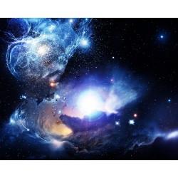 Décoration plafond paysage univers - Les étoiles lumineuses dans le ciel bleu foncé