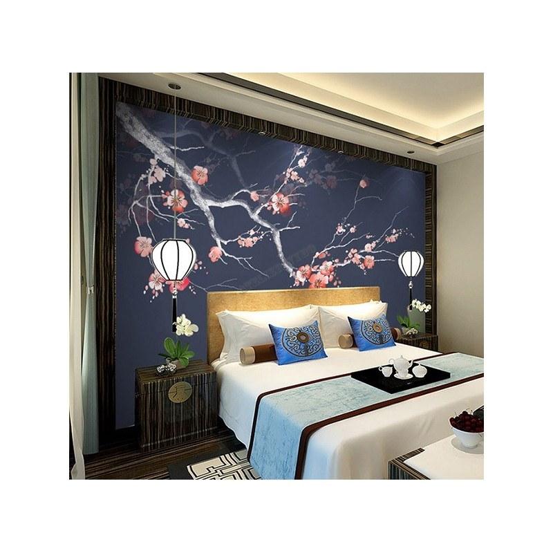 D coration d 39 interieur zen chambre d 39 h tel papier peint for Decoration zen interieur