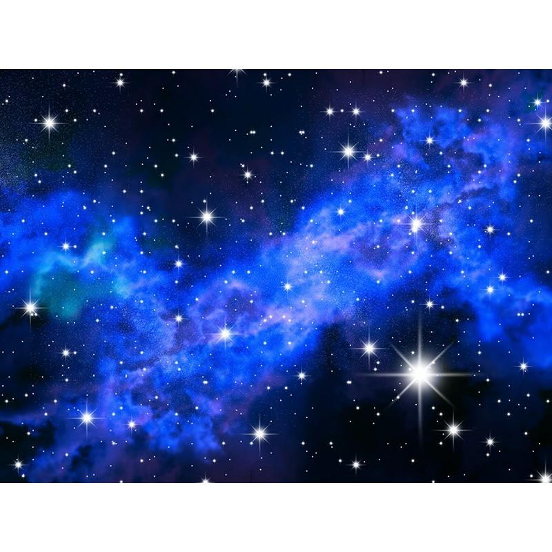 Plafond tendu imprim personnalis paysage univers toile scintillante nuage bleu ciel nuit - Etoiles phosphorescentes plafond ...