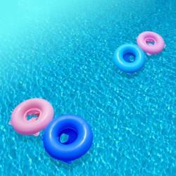 Revêtement de sol trompe l'œil 3D -  Les bouées sur la piscine