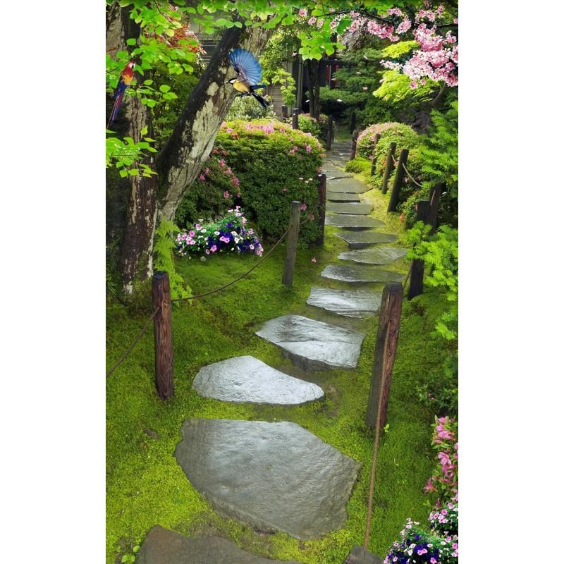 Papier Peint 3d Japonais Format Vertical Paysage Zen Jardin Sous La