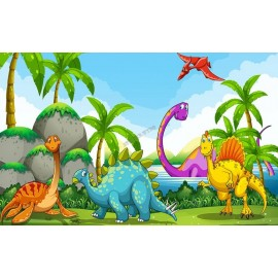 Décoration murale XXL crèche garderie spéciale dinosaure - Les bébés dinos