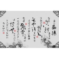 Tapisserie murale asiatique - Calligraphie chinoise