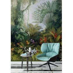 Tableau d'artiste - Paysage de la jungle - Les plantes et les fleurs tropicales