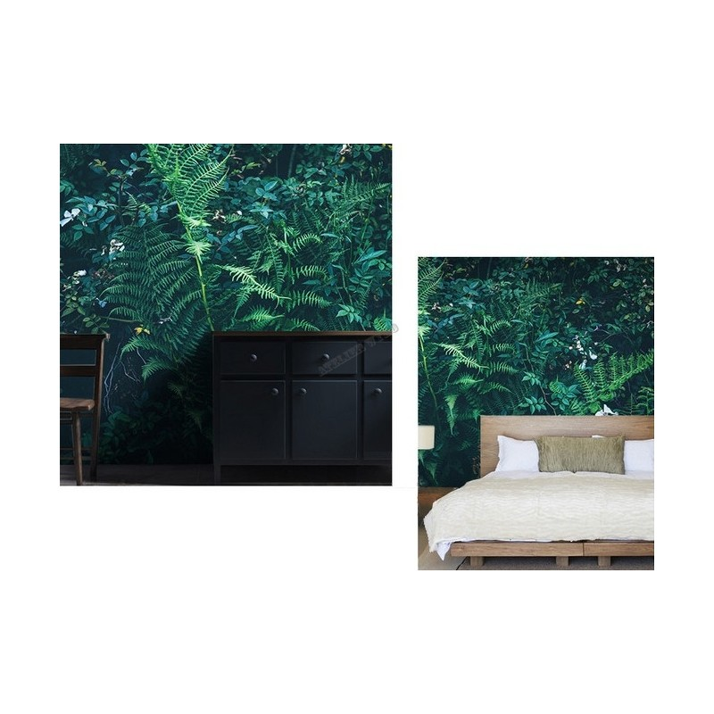 papier peint personnalis mur v g tal tapisserie murale panoramique les plantes tropicales. Black Bedroom Furniture Sets. Home Design Ideas