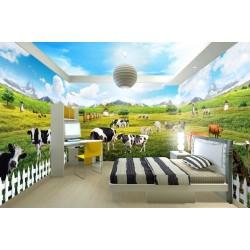 Décoration murale paysage grand panoramique - La ferme
