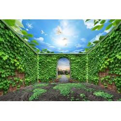 Décoration murale 3D grand panoramique - Mur végétal