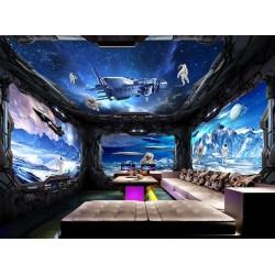Décoration murale 3D grand panoramique - Dans le vaisseau spatial
