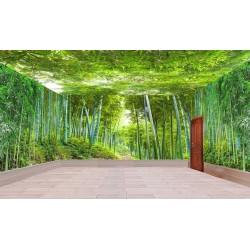 Décoration murale grand panoramique paysage nature - La forêt de bambou