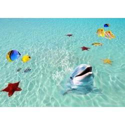 Revêtement sol trompe l'œil 3D - Le dauphin