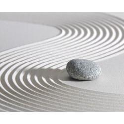 Revêtement de sol zen - Le caillou sur sable blanc