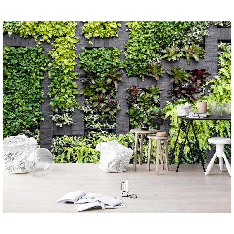 papier peint photo panoramique mur v g tal tapisserie textile en un seul morceau les plantes. Black Bedroom Furniture Sets. Home Design Ideas