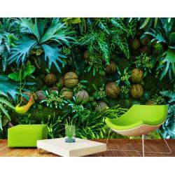 Mur végétal - Les plantes de la jungle