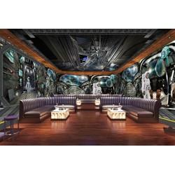 """Décoration murale grand panoramique parc thème """"Univers"""" - La station spatiale"""