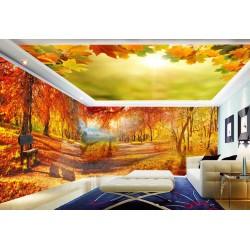 décor XXXL paysage nature - Forêt d'automne