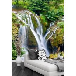 Papier peint photo paysage nature format portrait (vertical)  - La chute d'eau