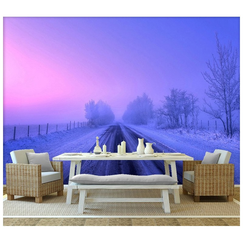 papier peint photo panoramique tapisserie xxl personnalis paysage d 39 hiver. Black Bedroom Furniture Sets. Home Design Ideas