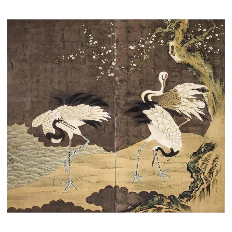 Estampe Japonaise Ancienne Ukiyo E Papier Peint Design Tapisserie