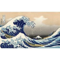 Papier peint japonais issu d'un ukiyo-e - La grande vague