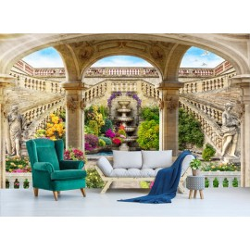 Paysage classique trompe l'oeil 3D - Le jardin suspendu