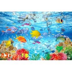 Revêtement de sol océan - Les poissons tropicaux et les coraux