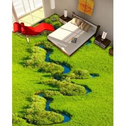 Revêtement de sol paysage nature - Le marais couvert par la végétation