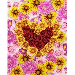 Revêtement de sol romantique - Les fleurs aux couleurs chatoyantes