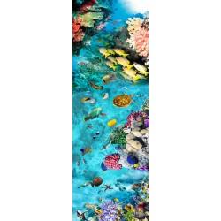Revêtement de sol couloir paysage fond marin - Les poissons, la tortue et les coraux