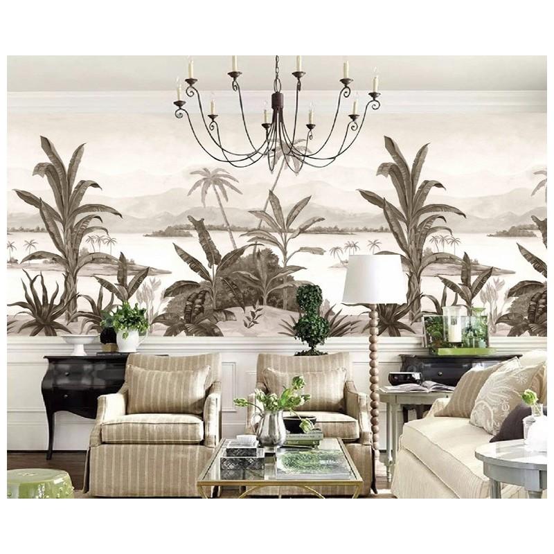 poster g ant mural salle de s jour papier peint photo personnalis niveaux de gris paysage. Black Bedroom Furniture Sets. Home Design Ideas
