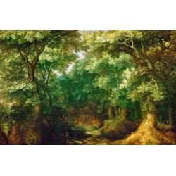 Papier peint d'artiste - La forêt profonde
