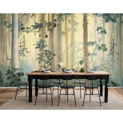 Papier peint d'artiste couleurs légères - Les plantes dans la forêt