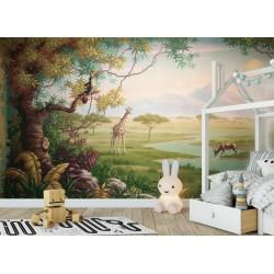 Papier peint d'artiste - Paysage combiné de la savane et la jungle