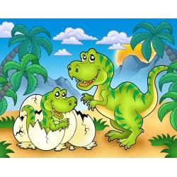 Papier peint chambre bébé-Dinosaure 1