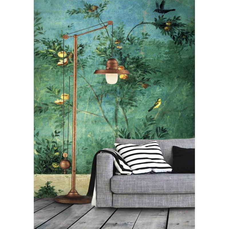 D coration d 39 int rieur style classique tableau d 39 artiste fond vert papier peint ancien le - Eloigner les oiseaux des arbres fruitiers ...
