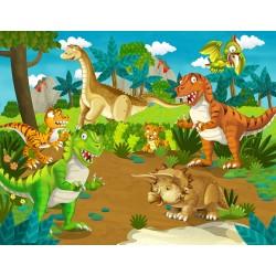 Papier peint pour enfant-Dinosaure 2