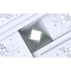 Décor plafond trompe l'oeil 3D - Petite fenêtre sur le toit