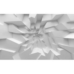 Décor plafond trompe l'oeil 3D - Blocs de plâtre