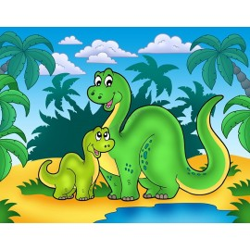 Décoration murale chambre bébé - Dinosaure 3