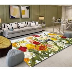 Tapis sol moderne multicouleur - Les fleurs de printemps