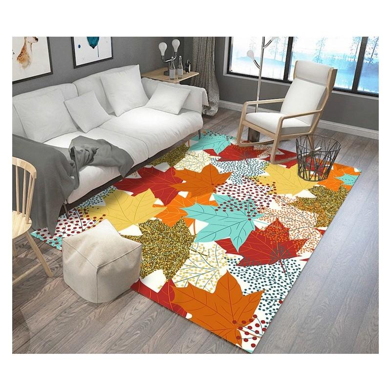 Tapis Sol Art Moderne Multicolore   Les Feuilles Du0027érable Rouges, Jaunes,  Oranges