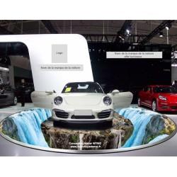 """Revêtement sol trompe l'oeil 3D, conception spéciale """"voiture"""" - Rocher sur la grande chute d'eau"""