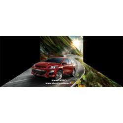 """Décoration combinée mur sol trompe l'œil 3D, conception spéciale """"voiture"""" - Courir sur la route montagneuse"""