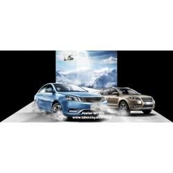 """Décoration combinée mur sol trompe l'œil 3D, conception spéciale """"voiture"""" - Sur la neige"""