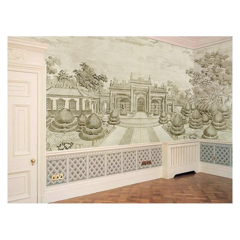 tableau d 39 artiste papier peint vintage gris tapisserie. Black Bedroom Furniture Sets. Home Design Ideas